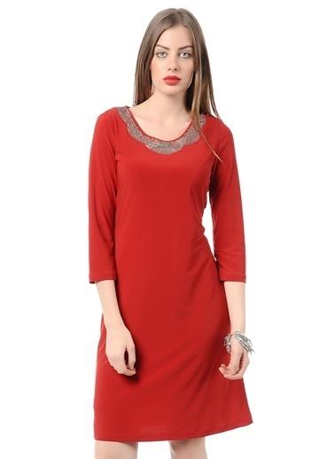 Asymmetry Truvar Kol Kısa Elbise Kırmızı